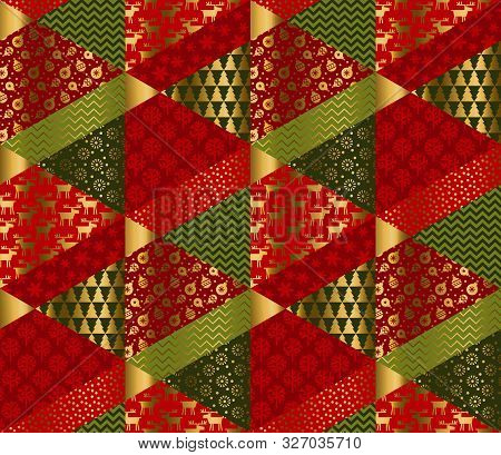 Christmas Elegant Patchwork With Simple Patterns