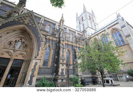 Southwark Church Cathedral Old Building In London Uk