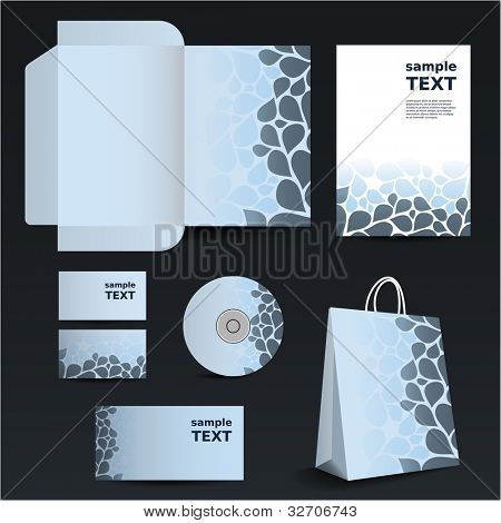 Stationery template design - business set