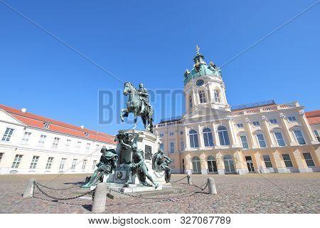 Berlin Germany - June 9, 2019: Charlottenburg Palace Historical Building In Berlin Germany