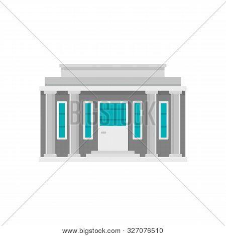Governmental Courthouse Icon. Flat Illustration Of Governmental Courthouse Vector Icon For Web Desig