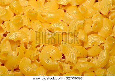 Italian Pasta Close Up. Food Background Texture