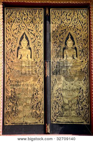 The Window And Pattern In Traditional Thai Style