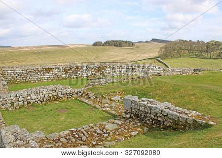 Roman Remains At Housesteads, Northumberland In England