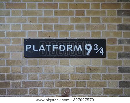 Harry Potter Platform Nine And Three Quarters In London