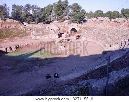 Roman Amphitheater Dated In The 1st Century In Augusta Emerita Venue For Gladiatorial Struggles In M