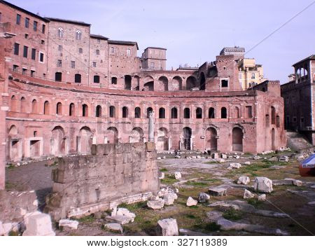 Trajan Forum Work Of The Roman Emperor Trajan Imperial Forum Dated In The Second Century By Apollodo