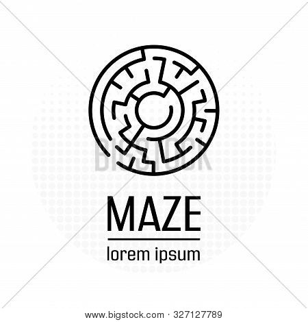 Maze In Symple Style. Isolated Vector Sign Symbol. Business Success. Isolated Vector. Creative Moder