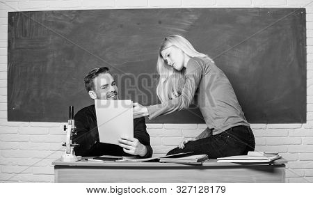 Prepare Final Exam. Students Study Before Exam. Ertificate Proves Successfully Passed University Ent