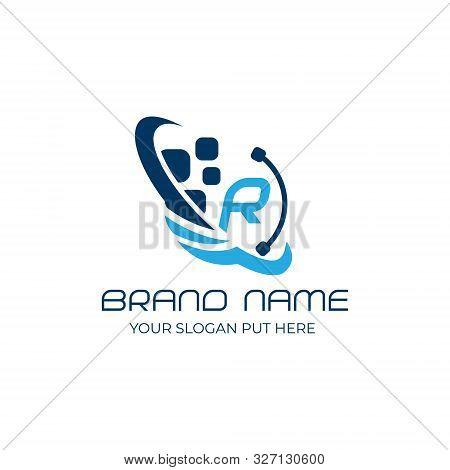 Technology R Letter Logo/identity Design Template Vector Eps