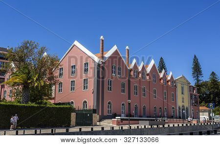 Cascais - August 14, 2019: Facade Of The Cascais Cultural Centre Housed In The Former Convent Of Our
