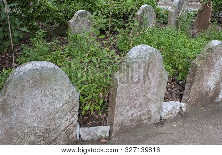 Gibraltar, Uk - July 27th 2019: Trafalgar Cemetery. A Cemetery In The British Overseas Territory Of