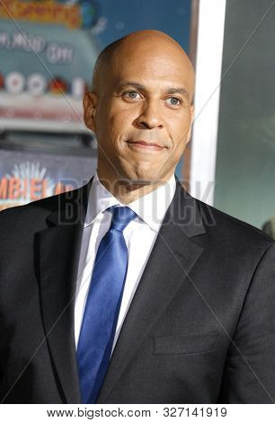 Cory Booker at the Los Angeles premiere of 'Zombieland Double Tap' held at the Regency Village Theatre in Westwood, USA on October 10, 2019.