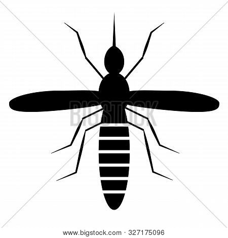 Mosquito Icon On White Background. Flat Style. Black Mosquito Icon For Your Web Site Design, Logo, A