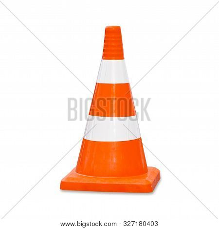 Traffic Cone. Road Sign Isolated On White