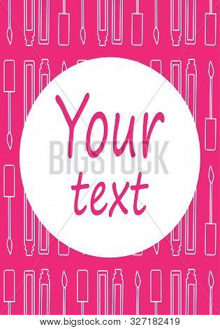 Pink Rectangle Background With Lip Gloss Pattern