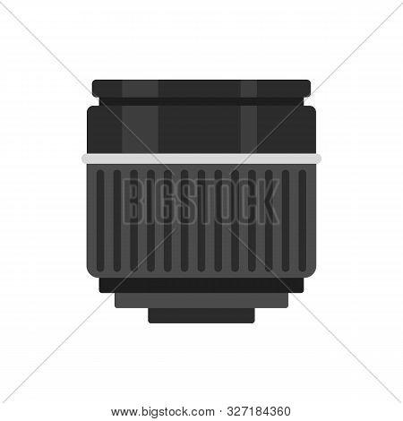 Macro Lens Icon. Flat Illustration Of Macro Lens Vector Icon For Web Design