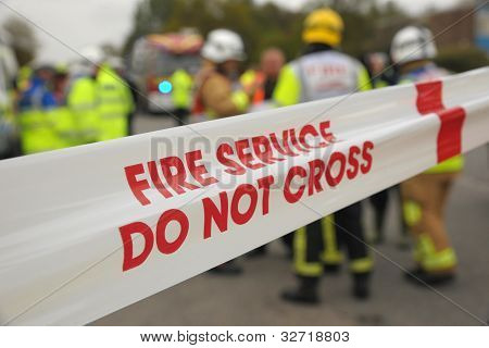 Fire service do not cross