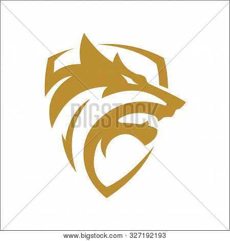 Wolf Shield Icon Vector. Wolf Logo. Wolf Head Logo Vector