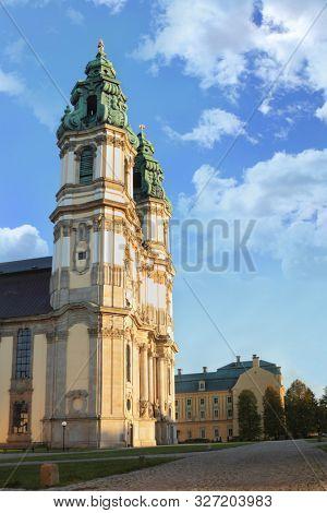 Church in big Christian Monastery Krzeszow  Poland