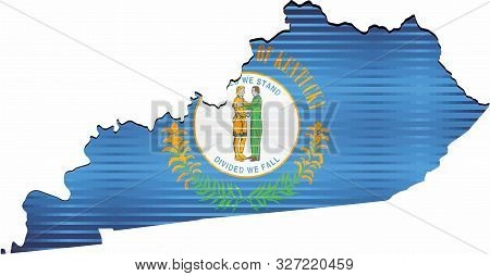 Shiny Grunge Map Of The Kentucky - Illustration,  Three Dimensional Map Of Kentucky