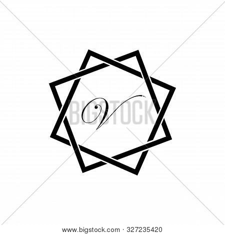 Letter V Business Corporate Abstract Unity Vector Logo Design Template