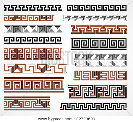 Greek style seamless borders