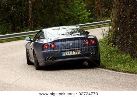 Leiria, Portugal - April 20: Valter Gomes Drives A Ferrari 575 Maranello During Day One Of Rally Ver