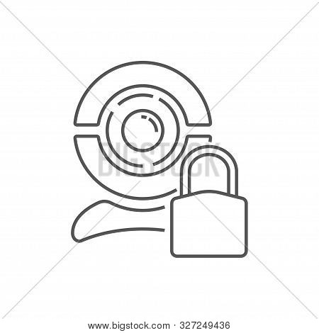 Image Of A Web Camera On A White Background. Line Icon For Web Sites And Applications. Eps 10