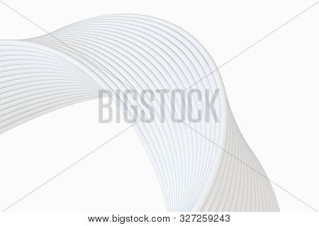 The Virtual Image Of Mobius Ring Geometric Figure, 3D Rendering