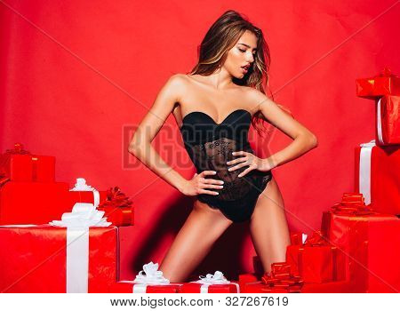 Christmastime Celebration. Event Anniversary Decoration People Person Concept. Sexy Legs. Christmas