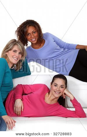 Portrait of young women sharing a flat