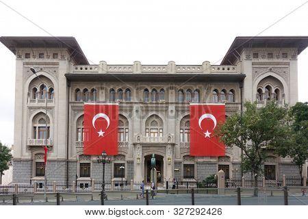 Ulus, Ankara / Turkey -  July 15 2019: Historical Ziraat Bank Building in Ulus, Ankara - Turkey