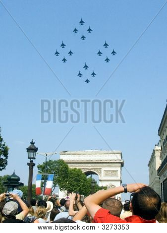 Aerial Review 13.July Day Conquest Bastile In Paris