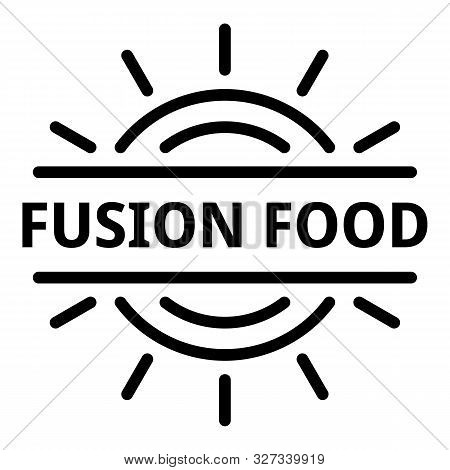 Fusion Food Logo. Outline Fusion Food Vector Logo For Web Design Isolated On White Background