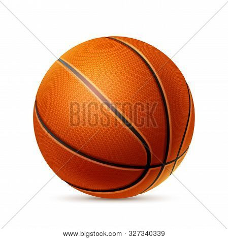 Vector Realistic Basketball Ball For Betting Promo