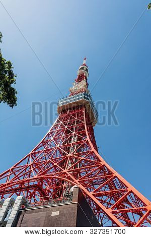 Tokyo, Japan, Asia - September 7, 2019 : The Tokyo Tower