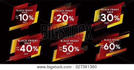Black Friday 2019. Big Sale. Set Of Banners For Web, Social Networks And Advertising. Tags For Disco