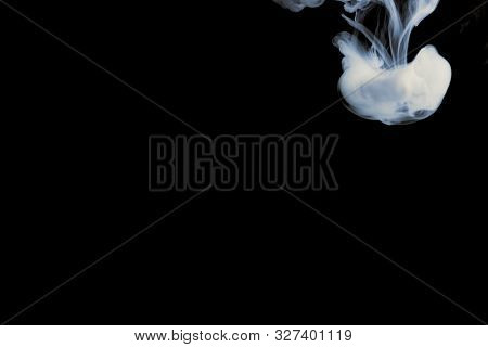 Tight Club Couple On A Black Background, Blackout, Place For Text