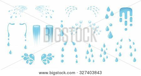 Shedding Tears, Tear Streams, Tears Drops Flows, Crying, Weeping, Sobbing Or Mourning Vector Illustr