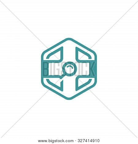 Creative And Modern Medical Finder Logo Or Icon Design Template For Healthcare Company Or Business ,