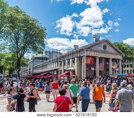 Boston, Massachusetts - July 9, 2017: Boston Is One Of The Oldest Cities In The States And Is Rich I