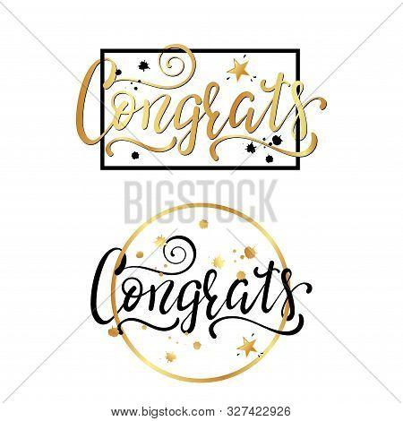 Congrats. Congratulations Card. Hand Lettering. Handwritten Phrase.