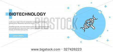 Biotechnology Line Icon. Simple Icon, Banner Outline Template Concept. Biotechnology Line Icon. Simp