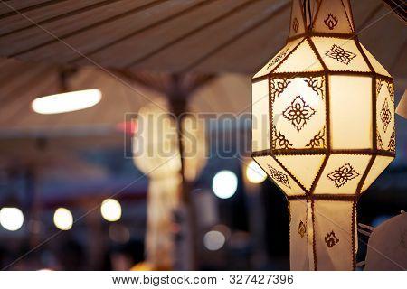 Yi Peng Or Lanna Chrome, Northern Style Of Thai Hanging Light Laterns Lamp