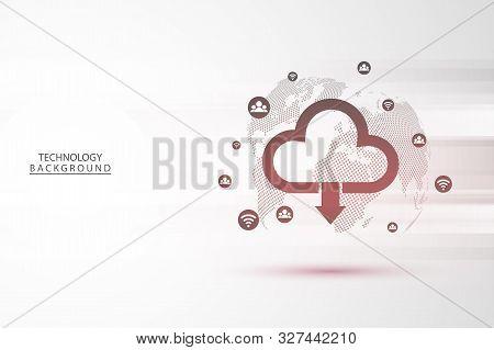 Abstract Technology Background Hi-tech Communication Concept Futuristic Digital Innovation Backgroun