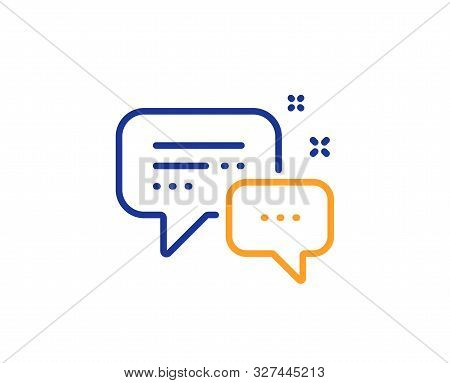 Speech Bubble Sign. Employees Messenger Line Icon. Chat Message Symbol. Colorful Outline Concept. Bl