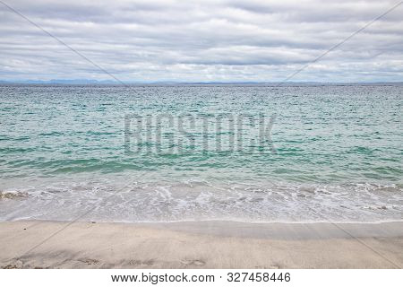 Waves And Sand At Beach In Inisheer Island, Galway, Ireland