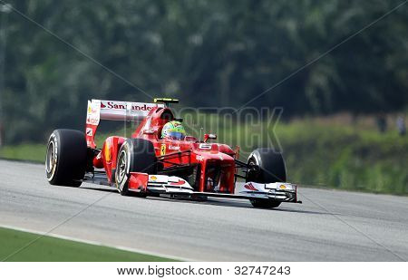 Felipe Massa with Ferrari F1