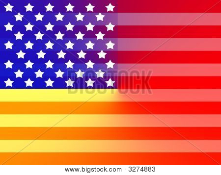American Flag Rainbow